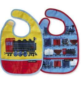 "Crocodile Creek Bibs 2 Go with Pouch ""Riding the Rails"""