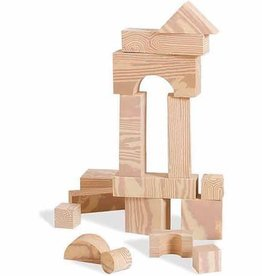 edushape Wood-Like Soft Blocks - 30 Pc