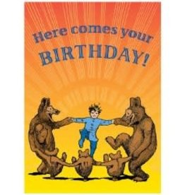 eeBoo Here Comes Your Birthday Card