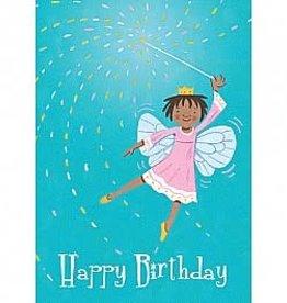 eeBoo Little Fairy With Wand Birthday card