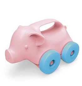 Green Toys Pig on Wheels Push Toy