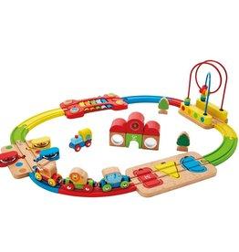 Hape Rainbow Puzzle Railway DS