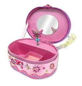 Hot Focus Oval ShapedMusical Jewelry Box, Flower Meadow
