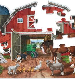 Melissa & Doug 32 pieces Busy Barn Shaped Floor Puzzle