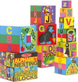Melissa & Doug Alphabet Nesting and Stacking Blocks (UC)
