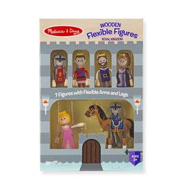 Melissa & Doug Wooden Flexible Figures- Royal Kingdom