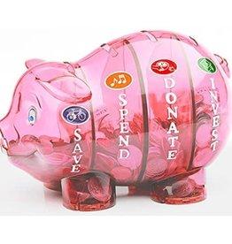Money Savvy Money Savvey Pink Piggy Bank