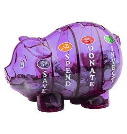 Money Savvy Money Savvy Purple Piggy Bank