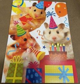 Peaceable Kingdom HAMSTERS BIRTHDAY CARD