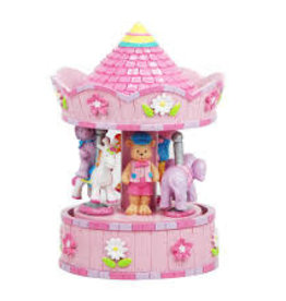 Pink Poppy Dream Time Musical Carousel - Pale Pink