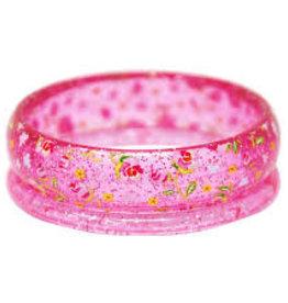 Pink Poppy Garden Rose Bangles pink