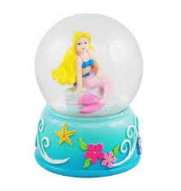 Pink Poppy Mini Snow Globe Mermaid