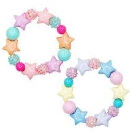 Pink Poppy Pastel Sparkle Star Bracelet pastel purple yellow blue stars