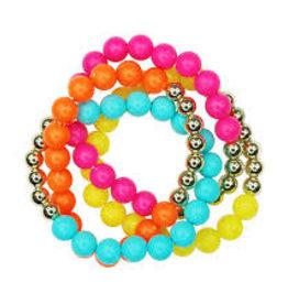 Pink Poppy Set Of 4 Calypso Bracelets