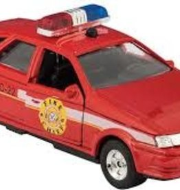 Schylling DIECAST SONIC POLICE/RESCU CAR FIre Chief red
