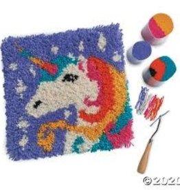 Harrisville Designs unicorn latch hooking kit