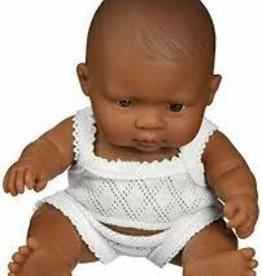 Miniland New Born Baby Doll Hispanic Girl