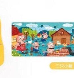 Mideer Fairy Tale Puzzle: Three Little Pigs 36 pc