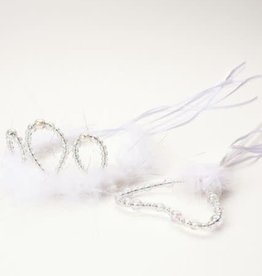 Little Adventures Wand & Tiara Set White