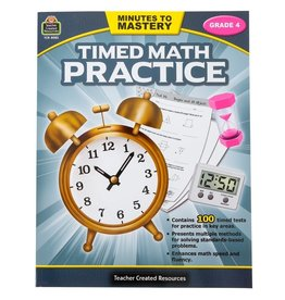 Teacher Created Resources Timed Math Practice grade 4