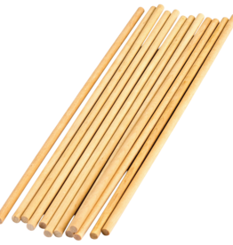 TCR 1/4 inch Wood Dowels 12 Pieces