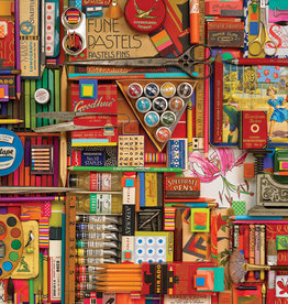 Cobble Hill 2000 Piece Vintage Art Supplies