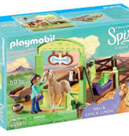 Playmobil Pru and Chica Linda with Horse Stall 9479