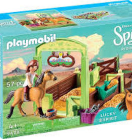 Playmobil Lucky and Spirit with Horse Stall 9478