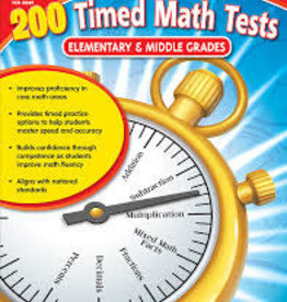 Teacher Created Resources 200 Timed Math Tests elementary & middle school