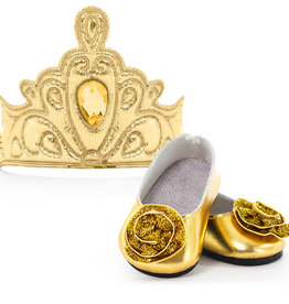 Little Adventures Doll shoes & Tiara Gold