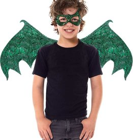 Little Adventures dragon wings and mask set green