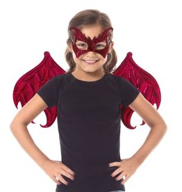 Little Adventures dragon wings and mask set red