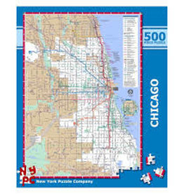 New York Puzzle Chicago Transit Map 500 PCS