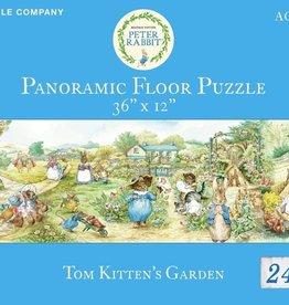 New York Puzzle Tom Kitten's Garden Panoramic Floor Puzzle 24 PCS