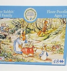 New York Puzzle Peter Rabbit and Family Floor Puzzle 48 PCS