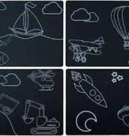 Imagination Starters Chalkboard Placemat 4 Set Transportation