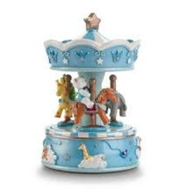 Pink Poppy Dream time musical carousel-blue