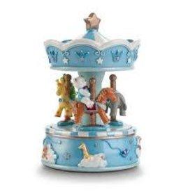Pink Poppy Dream time musical carousel-blue
