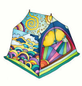 Alaska Wild and Free Tent Sticker