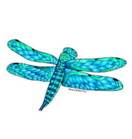 Alaska Wild and Free Dragon Fly Sticker
