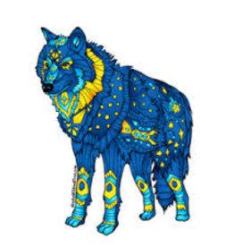 Alaska Wild and Free Wolf Sticker