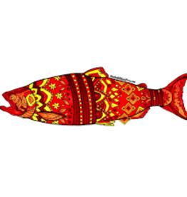 Alaska Wild and Free Salmon Sticker