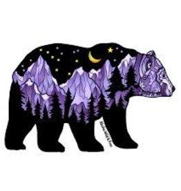 Alaska Wild and Free Bear Purple Sticker
