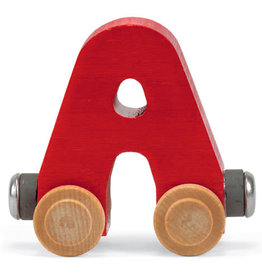 Maple Landmark Train Wooden Letter A Red