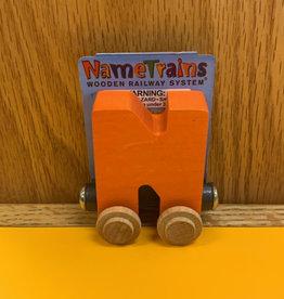 Maple Landmark Train Letter N orange