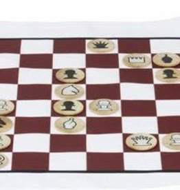 Maple Landmark Chess - Roll Up Cloth Board for Travel