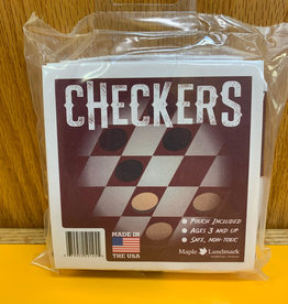 Maple Landmark Checkers - Roll Up Cloth Board for Travel