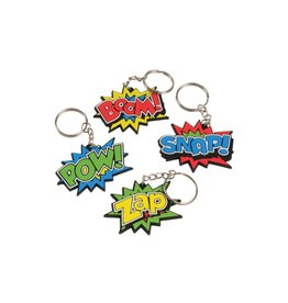 Kid Fun Superhero Keychain (Single - Assorted styles)