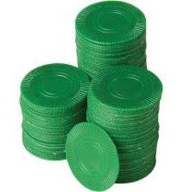 Kid Fun Poker Chips Green 100 pc