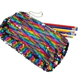 Kid Fun Rainbow Sequins Pencil Case